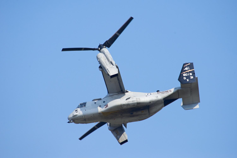 Osprey shortly after takeoff